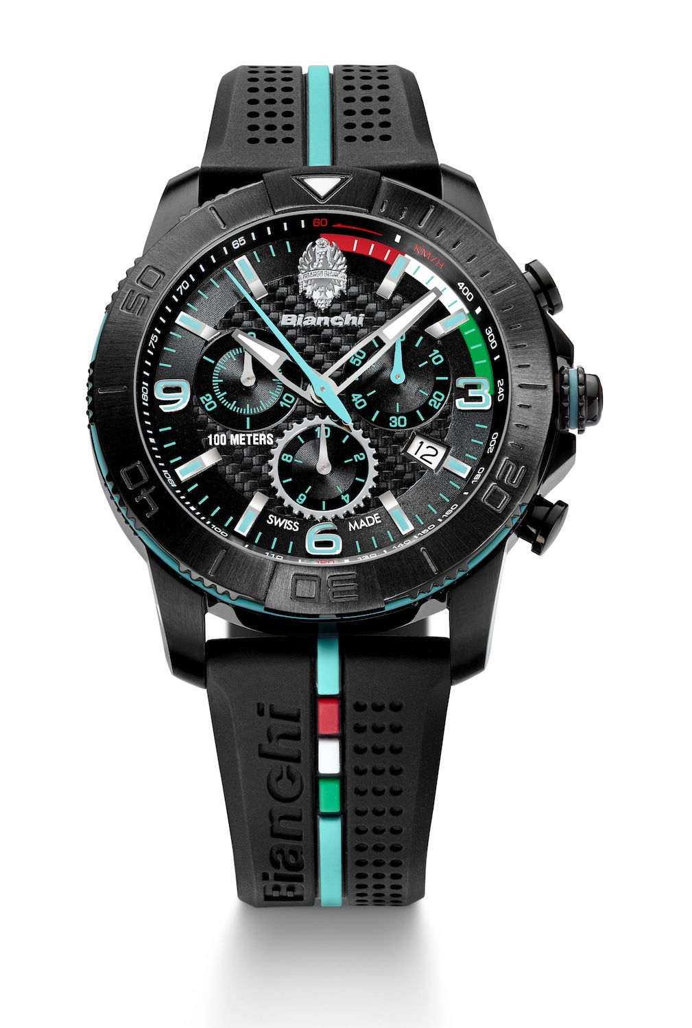 Reloj Bianchi Negro 43mm Chronograph Swiss Made